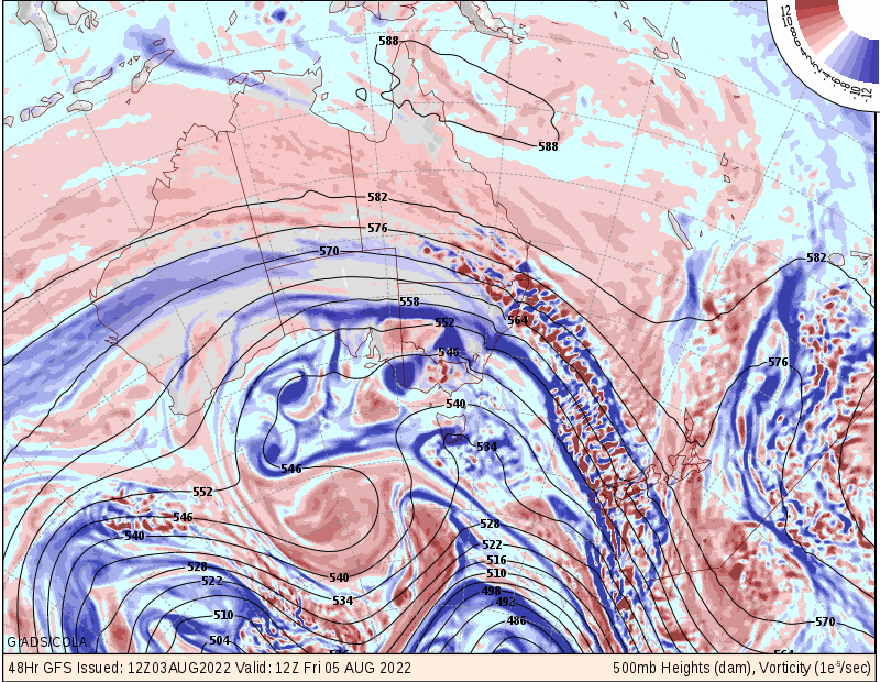 GFS surface + 2 day