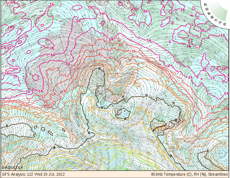 GFS surface analysis