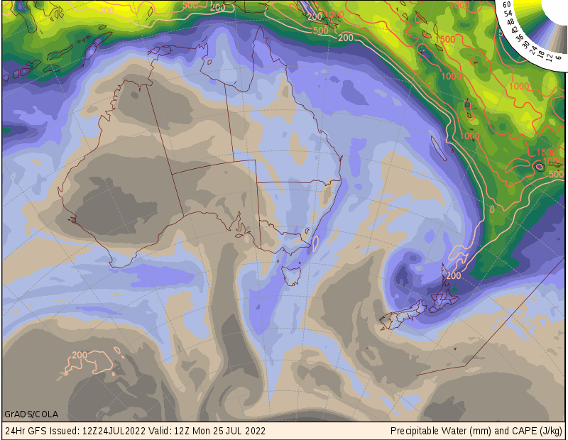 GFS surface + 1 day