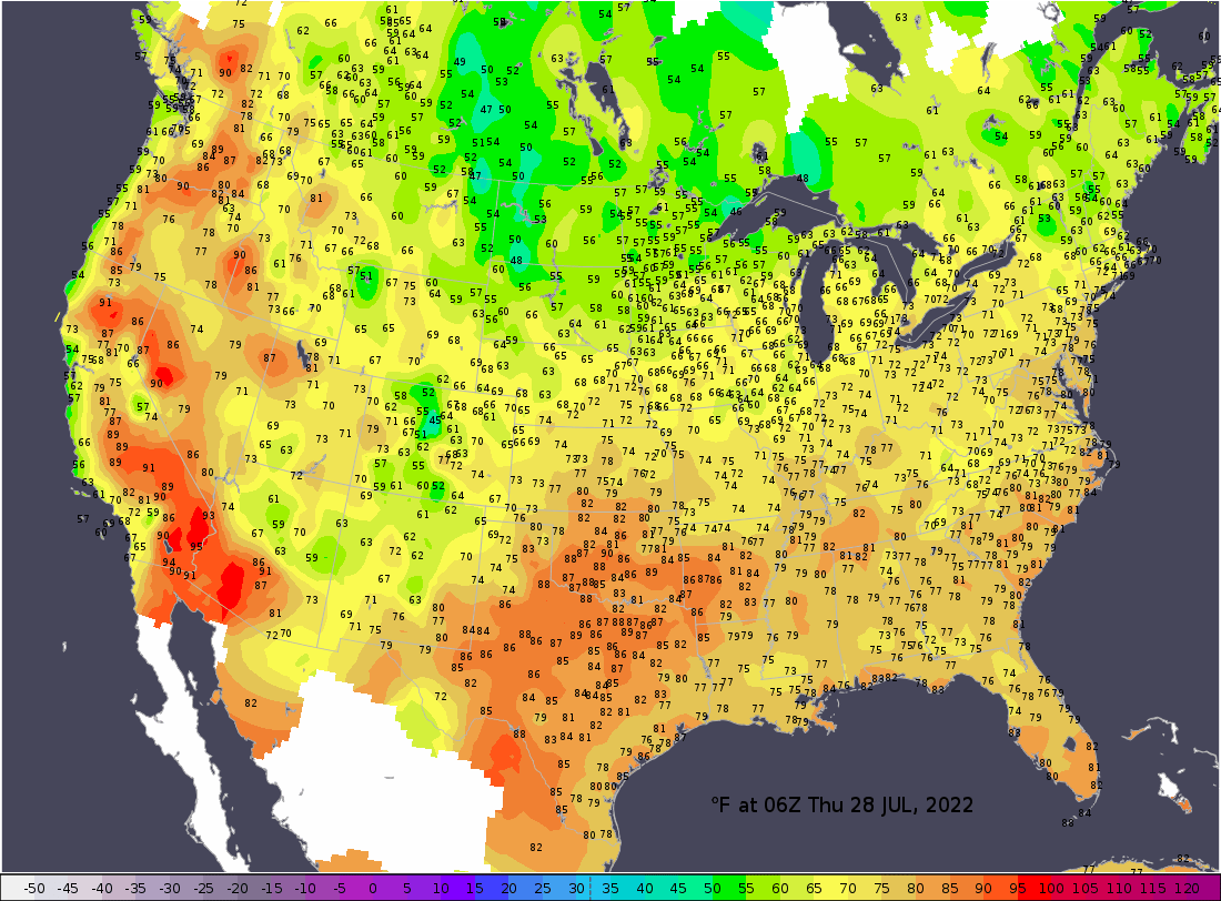 Current U.S. Temperatures