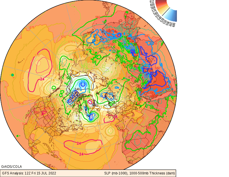 Meteorological Analyses over the Northern Hemisphere