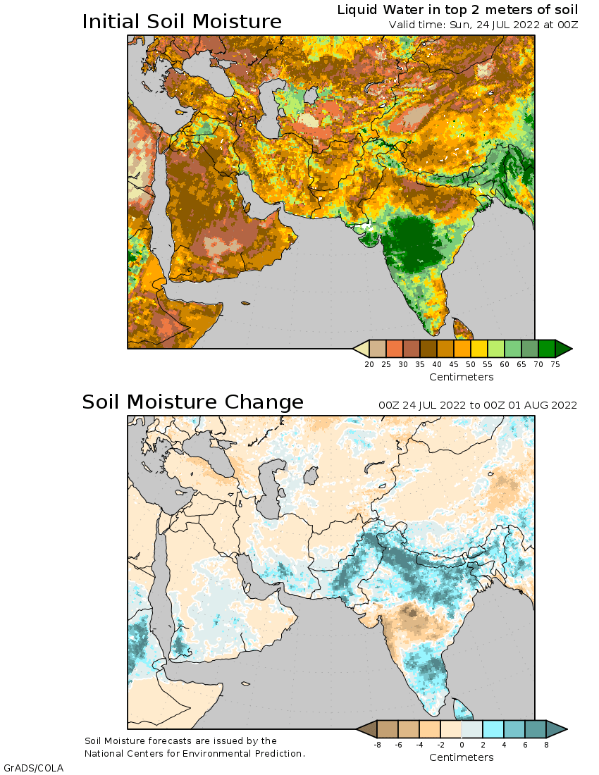14 day soil moisture outlook for central asia for Soil temperature map