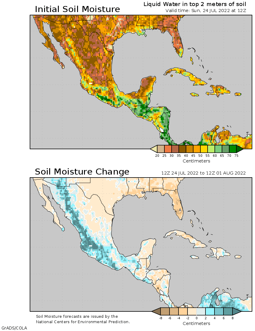 Mexico Temperature Map Daily Updates Myfoxhurricane - Mexico temperature map