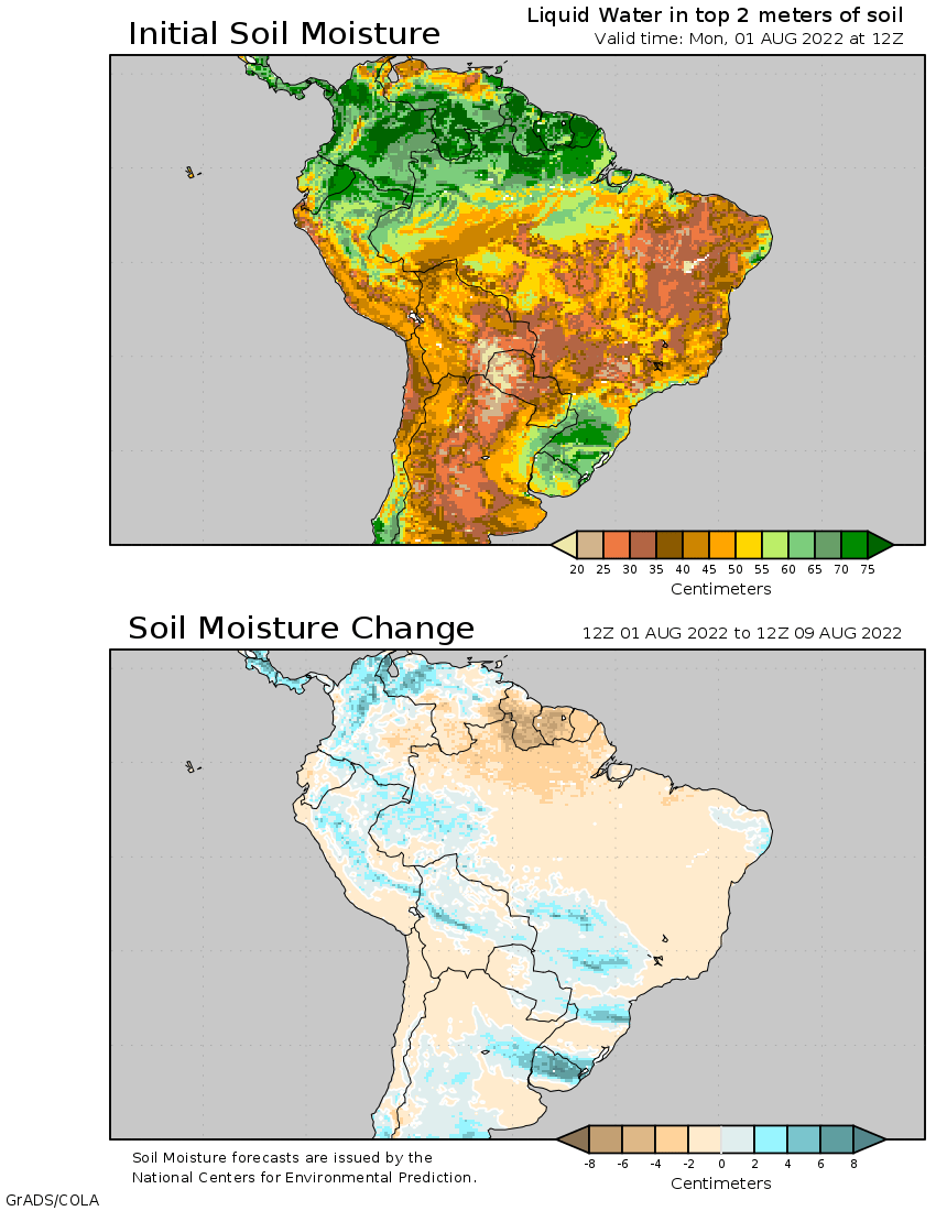 14-Day Soil Moisture Outlook for South America on south america continent map, south america seismicity map, south america climate map, south america physical map, south america drought map, south america wind map, south america topographic map, south america time zone map, south america vegetation map, south korea temperature map, south america interactive map, south america rainfall map, pampas grasslands south america map, north america temperature map, south america elevation map, south america color map, south american weather forecast, central america climate zone map, south america water map, south america animals,