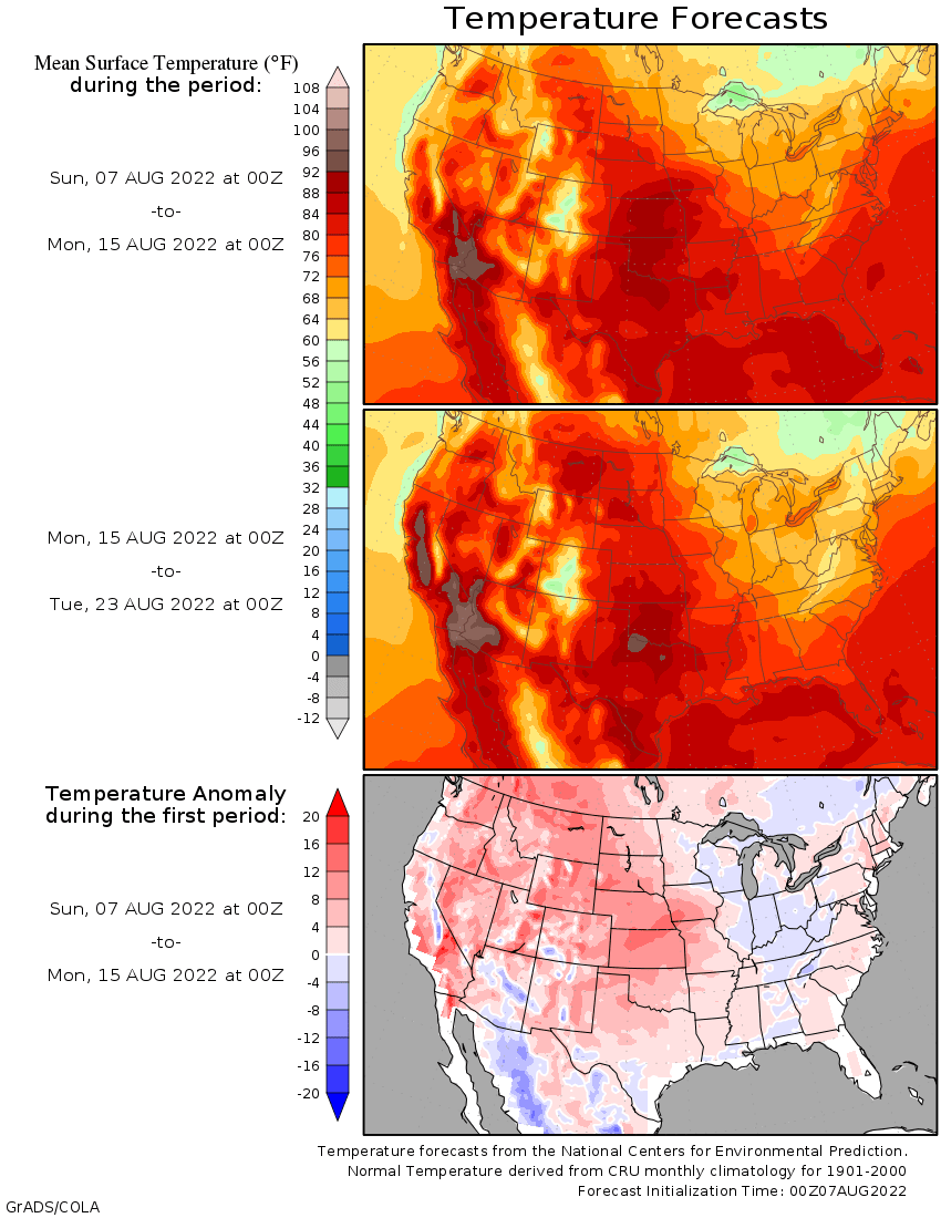 15 day temperature outlook and anomaly
